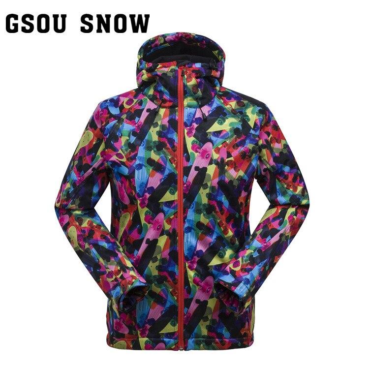 ФОТО Spring autumn mens waterproof windproof fleece jacket male cardigan soft shell clothing men outdoor sports outerwear skiwear