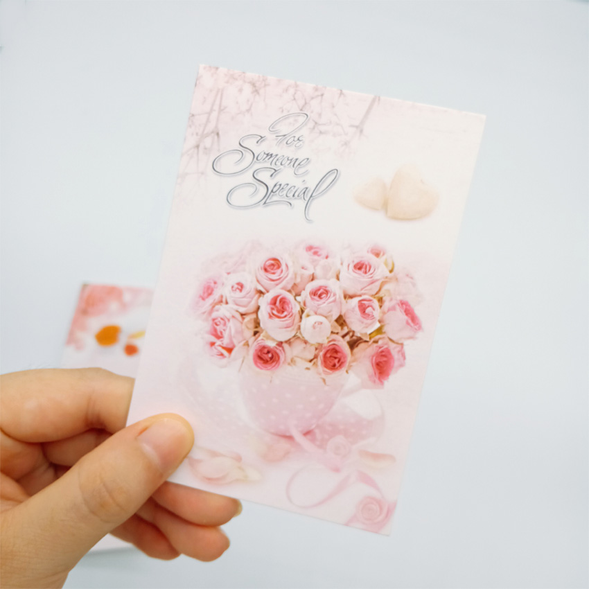 5Pcs/lot Lovely Flowers Blessing Small Greeting Card With Envelope Gift Cards New Christmas Fashion Card