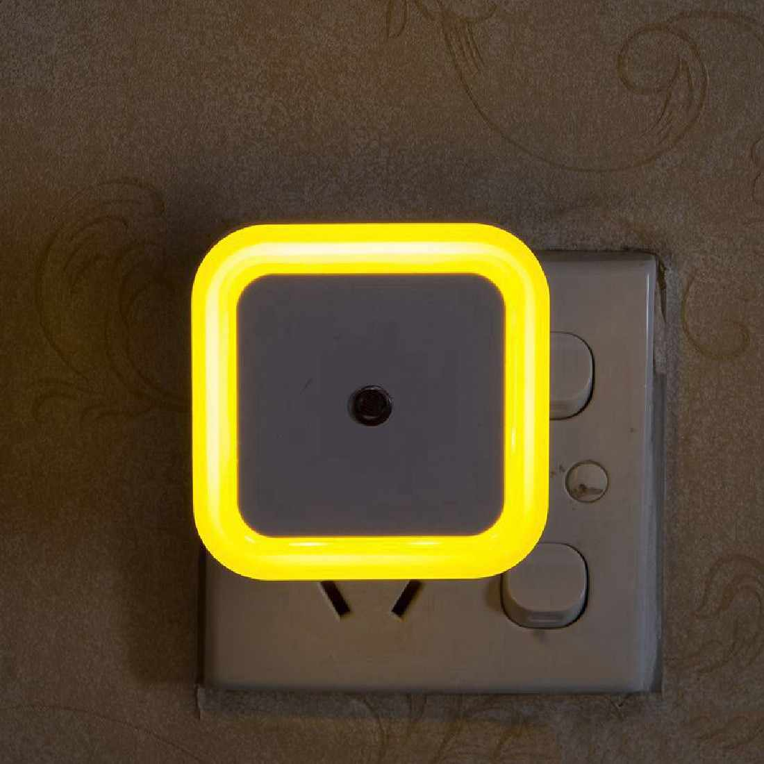 Household Square Auto LED Light Induction Sensor Control Bedroom Night  Lights Bed Lamp US Plug Smart Lamp Sleep Light|Night Lights| - AliExpress