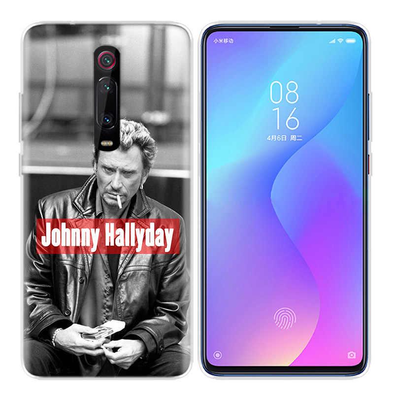 Silikonowe obudowa do Xiaomi czerwony mi K20 Pro K20Pro uwaga 5 6 7 7A 6A mi A2 A1 8 Lite 9 S2 pocophone F1 Johnny Hallyday muzyki na zawsze