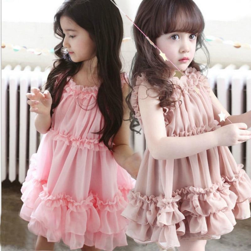 c53a20eb54665 New Fashion Ruffles Summer Dress Beautiful Baby Girl Clothing Two ...
