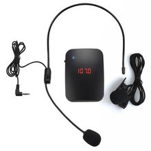 цена на ulanzi Wireless Microphone FM Radio Transmitter Headset Collar Tour Guide Clip-On MIC