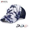Vancol Summer Mesh Cap Hats Sun Lovers Beach Coconut Tree Baseball Cap Bone Trucker Cap Casual Men Women Breathable Snapback