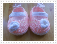 Crochet baby shoes first walker loafers 0-12M 12pairs/lot cotton customize free shipping