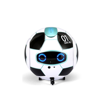 J01 Voice Control Dancing Robot Interactive Mini Cute Funny Electric Touch Deformation Sing For Child Gift Soccer Shape Toy