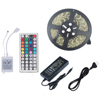 RGB LED Strip Waterproof 6A Power 44 Key Remote Controller 20 Colors Flexible LED Neon SMD5050 TV Background RGB String Light