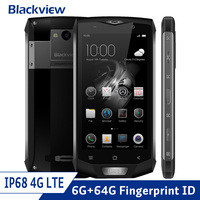 Blackview BV8000 Pro 4G LTE IP68 Waterproof Shockproof Smartphone Android 7.0 Octa Core 6GB+64GB Rugged Phone 16.0MP 4180mAh NFC