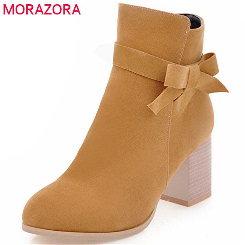 Automne Chaussures gris Pu Nubuck 34 noir Morazora Mode jaune Femmes Taille Cuir Hauts Printemps Talons Femme Bottes En 43 Pour Beige nO05SHwdq