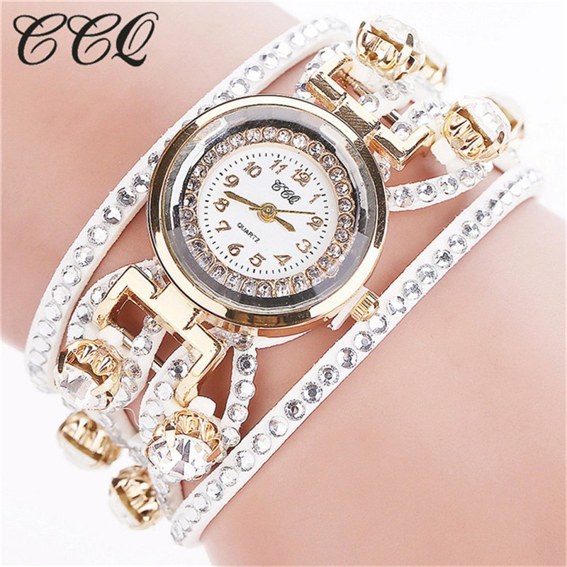 CCQ Fashion Relojes Mujer Women Bracelet Watches Watched Luxury Women Full Crystal Wrist Watch Quartz  Relogio Feminino C44 hot unique women watches crystal leather bracelet quartz wrist watch mujer relojes horloge femmes relogio drop shipping f25