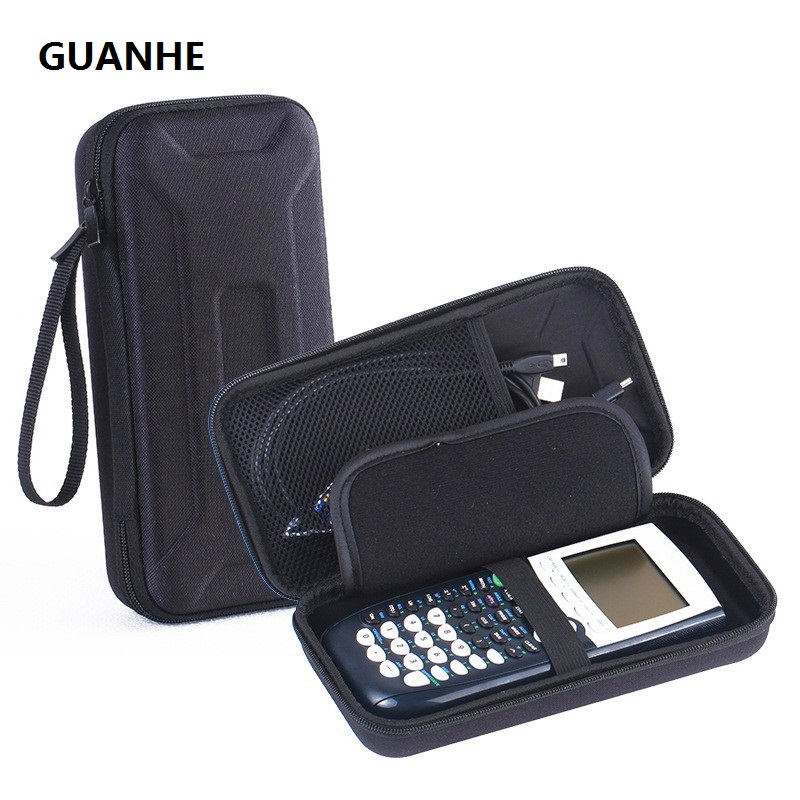 GUANHE Hard Shockproof Carrying SSD Hard Drive Power Bank Storage Case for Graphing Calculator Texas Instruments TI-84 / Plus CE
