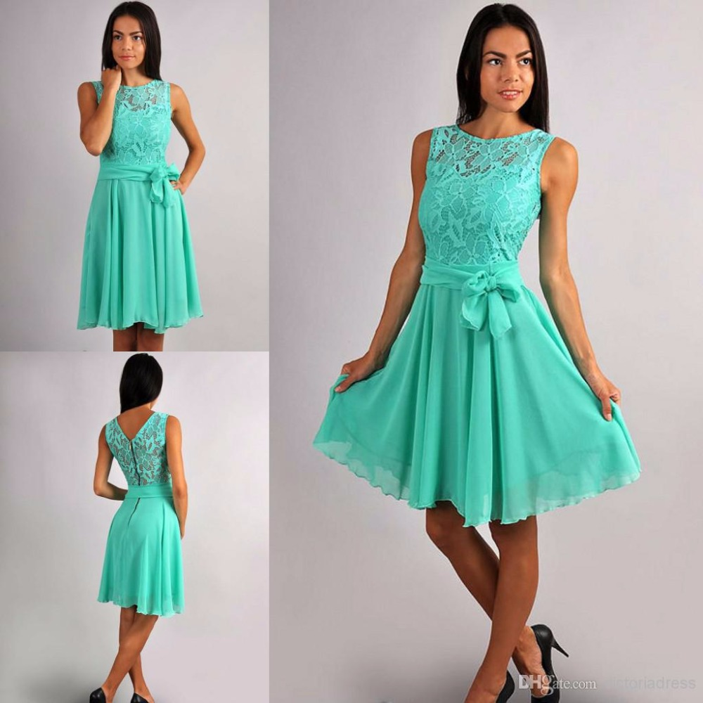 Online get cheap rustic dress sash aliexpress alibaba group mint chiffon short rustic bridesmaid dresses sleevelesss lace top summer informal country bridesmaid gowns knee length ombrellifo Choice Image