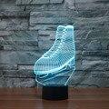 Творческий 7 изменение цвета 3D иллюзия Лампы СВЕТОДИОДНЫЕ Night Light Катание Обувь Дизайн Новизна Акриловые Изменение Цвета свет Лампы IY803356
