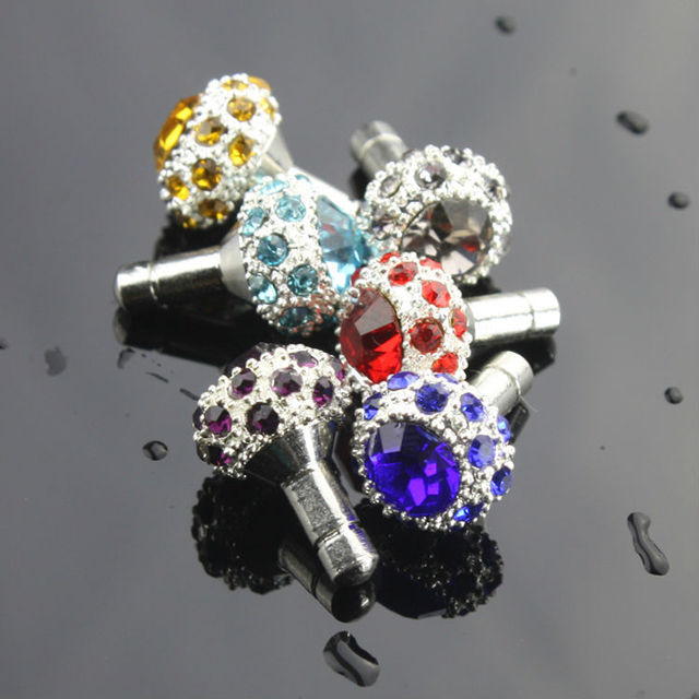 Charms Style Anti Dust Plug Stopper 3.5mm Dirt Proof for iPhone 4 4g 5G 6 6s 6 plus Cell Phone Dust Plug Cap Jack Accessory