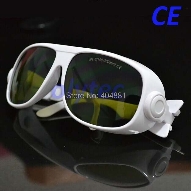 IPL-3 190-2000nm CE IPL safety glasses with white frame ipl safety glasses ipl 3 190 2000nm ce for laser beauty machines