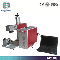 Economic LXJFiber 20w Aluminum Alloy Table Optical Fiber Laser Marking Machine