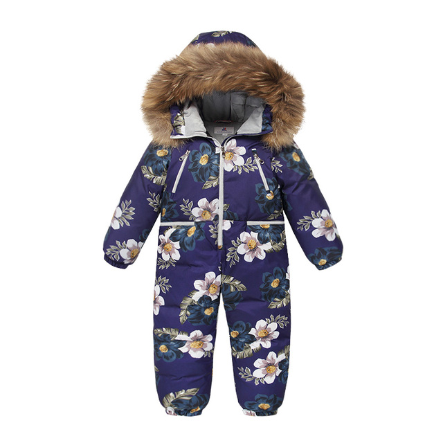 Best Price New Winter Children Jumpsuits Outerwear Kids Winter Jacket for Girls Snowsuit Down Boys Coat Years Overalls Warm Baby Clothes