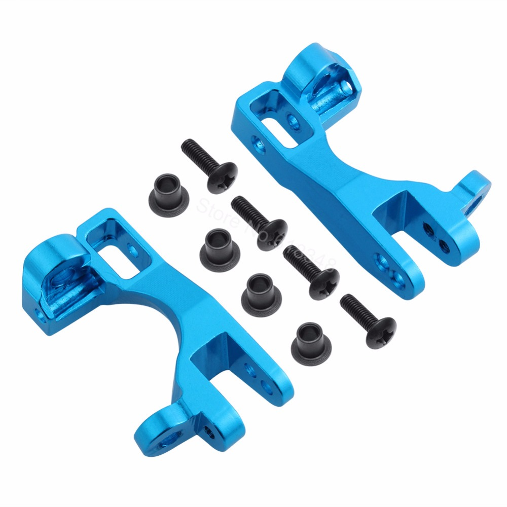 все цены на 1/10 Traxxas Slash 4x4 Aluminum Left and Right Front Caster Blocks C-Hubs (Part # 6832X) Upgrade OP Parts Fit Stampede LCG/RALLY онлайн
