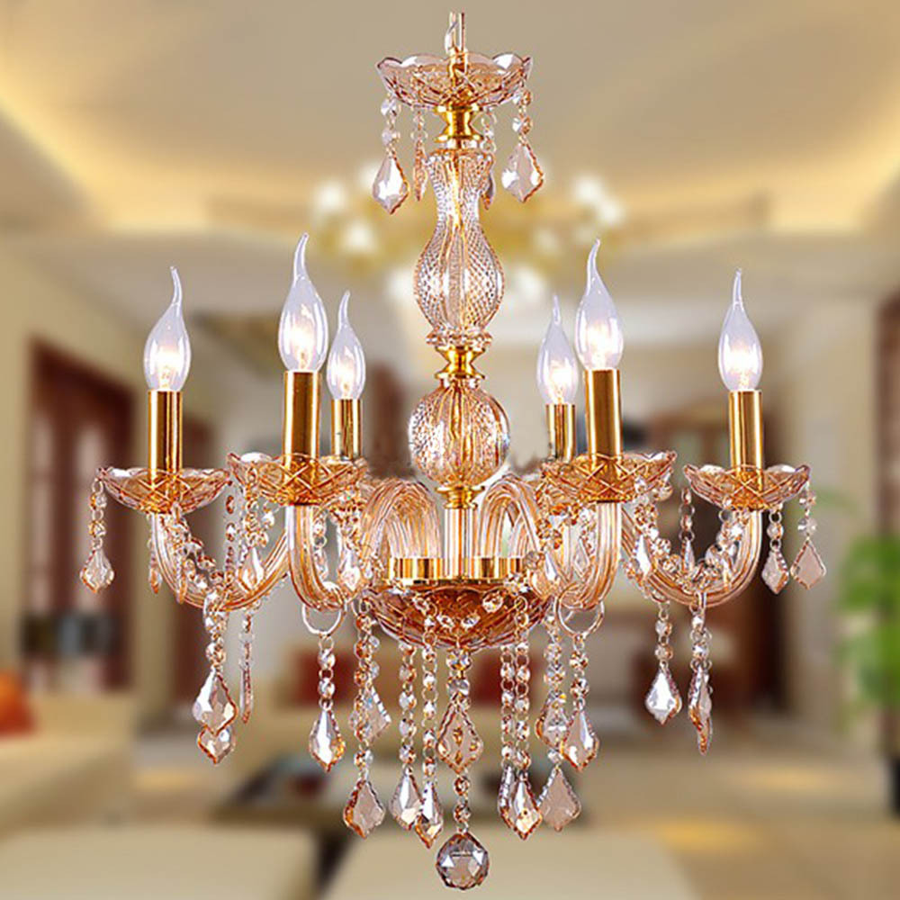European royal classic gold chandeliers 6 arms light fixture wedding european royal classic gold chandeliers 6 arms light fixture wedding decorative lighting crystal lustre lamps for foyer lobby in chandeliers from lights arubaitofo Images