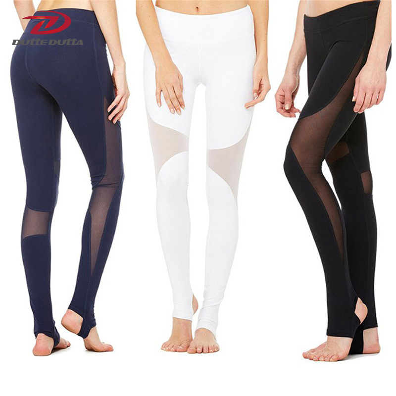 lucylizz professional mesh patchwork sports leggings fitness yoga pants running tights gym. Black Bedroom Furniture Sets. Home Design Ideas