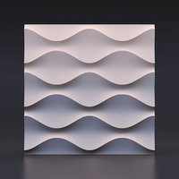 Corrugated pattern Cement Encaustic Tiles silicone molds Concrete tiles mold Cement wall brick mold 28*2cm
