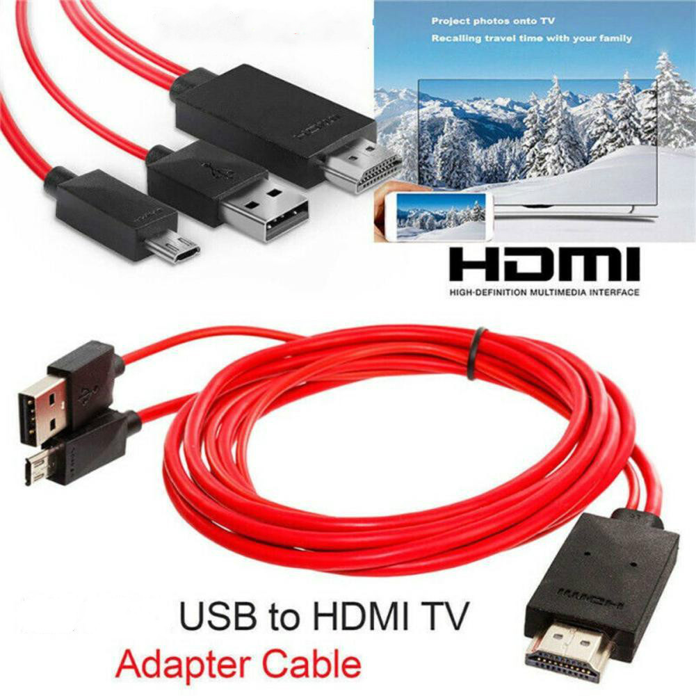 New TV Stick 1.8m Micro USB Mobile High-Definition Link  To HDMI Audio Video AV Adapter Cable 1080P HD TV Converter For Samsung