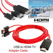 new TV stick 1.8m Micro USB Mobile High-Definition Link to HDMI Audio Video AV Adapter Cable 1080P HD TV Converter For Samsung(China)