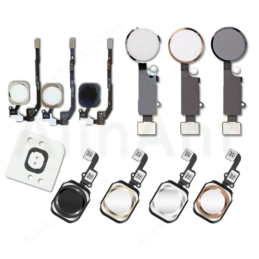 Home Button Flex For iPhone 6 6s 7 8 Plus 5s SE Home Button Flex Cable With Rubber Sticker No Touch ID Fingerprint Free Shipping(China)