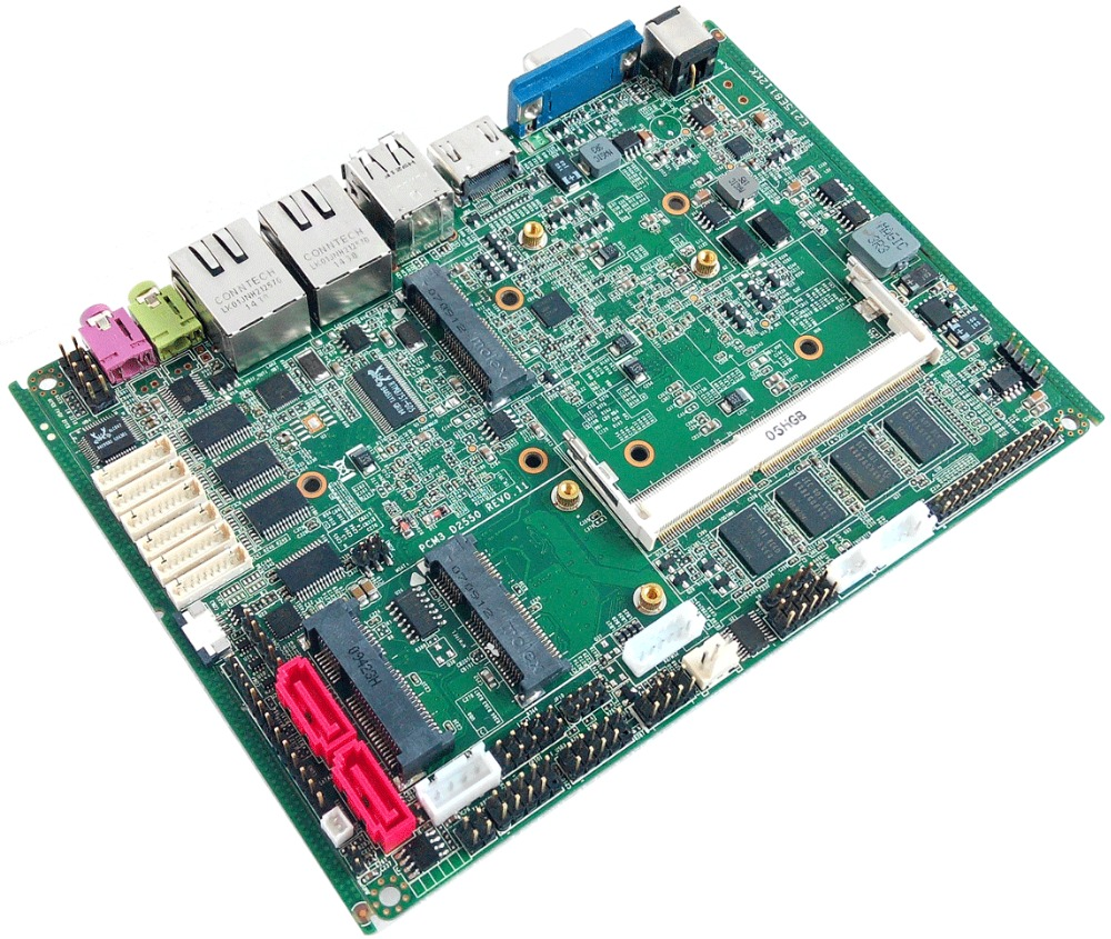 Onboard 2G RAM Mini Atx Motherboard With 6*COM &2*RJ 45