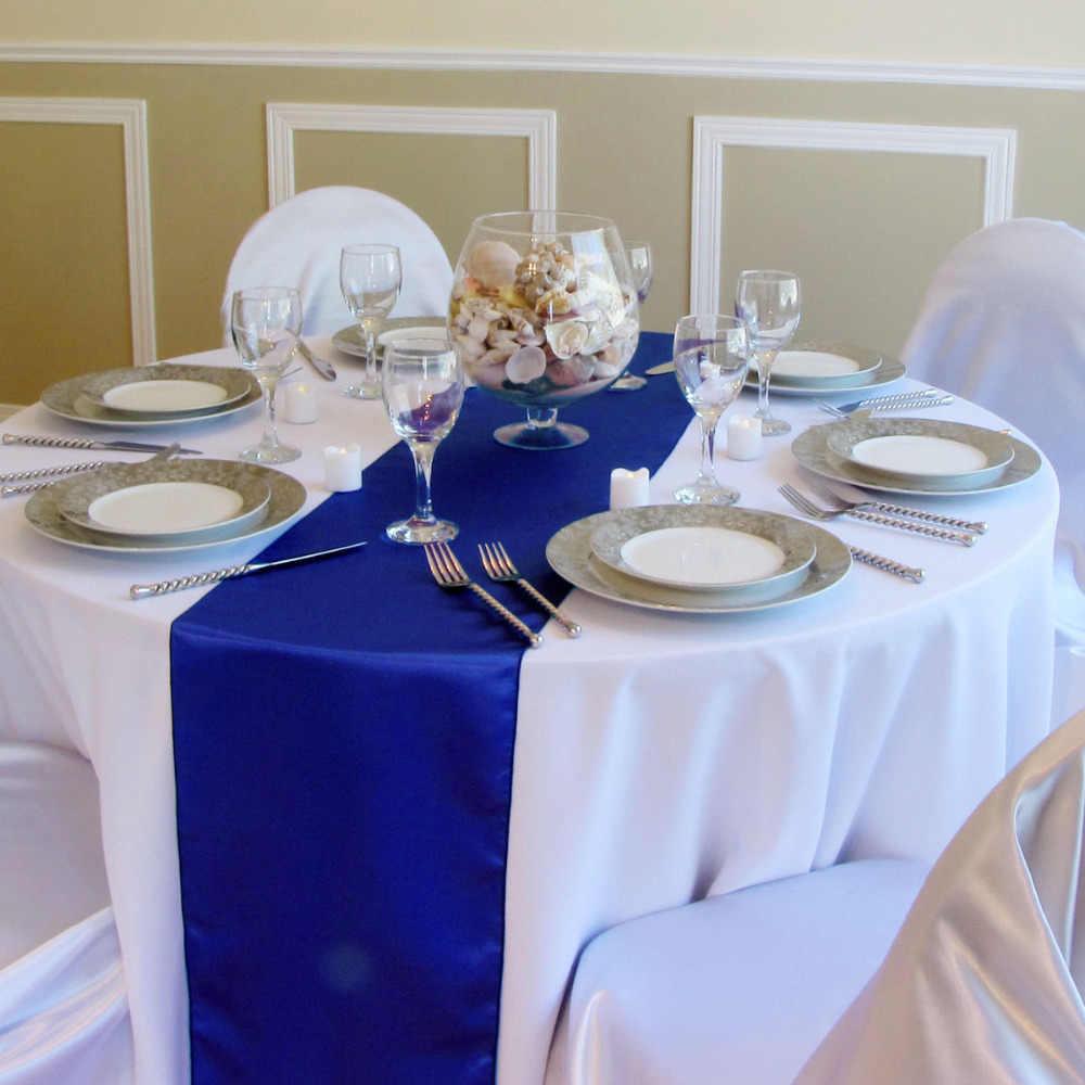 Meijuner 1 Uds. Decoración de mesa de satén de alta calidad para fiestas caseras decoración de Navidad 22 colores disponibles