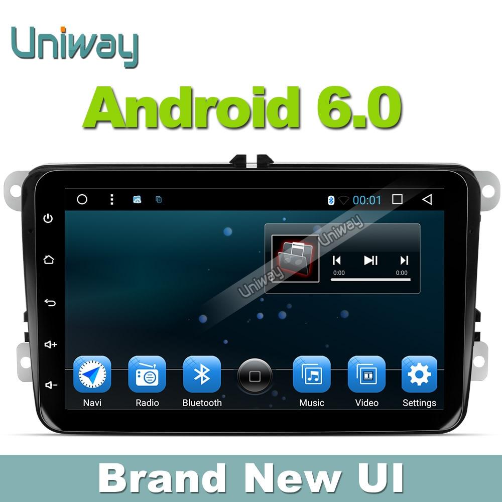 Uniway 2G 16G 2 din android car dvd for vw passat b5 b6 golf 4 5