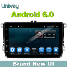 Uniway android 6.0 car dvd player gps for VW passat cc b6 b7 jetta tiguan touran scirocco T5 seat EOS car dvd gps stereo radio