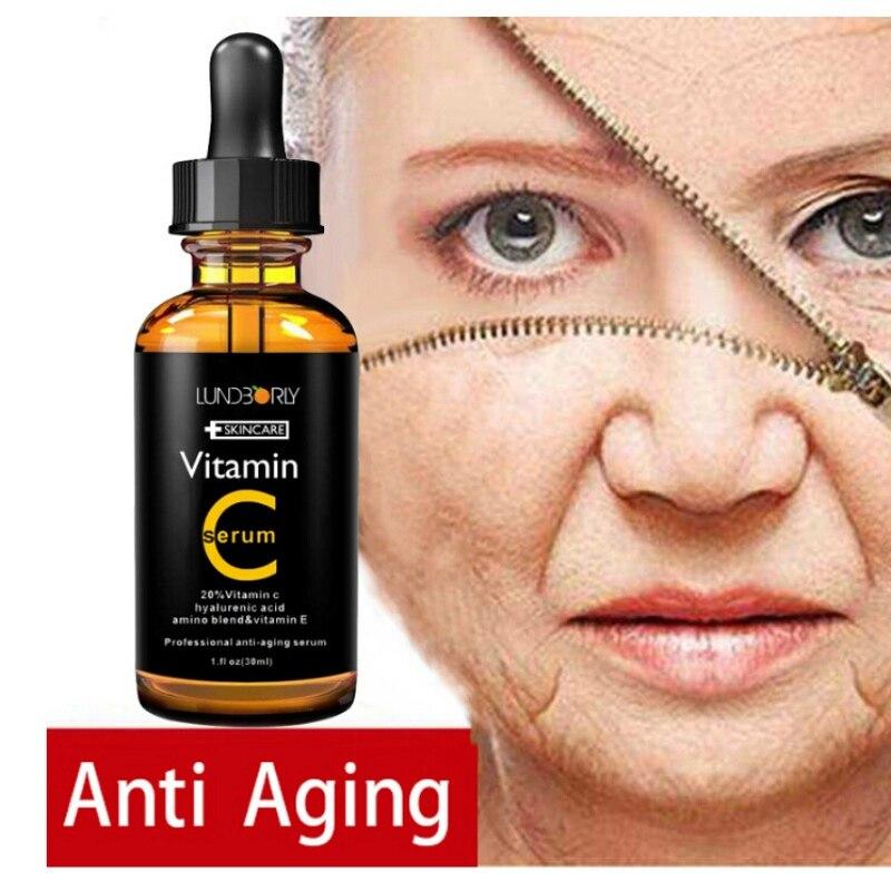 Vitamin C Serum Moistening Essence Whitening Serum Green Tea Remove Acne Anti Wrinkle For Skin Care Blemish Facial Cream