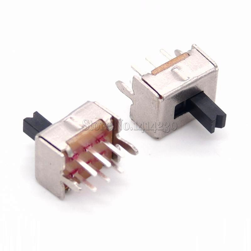 10PCS Toggle Switch SS22D07 2P2T 6Pins DPDT Vertical Handle High 4mm SS22D07VG4