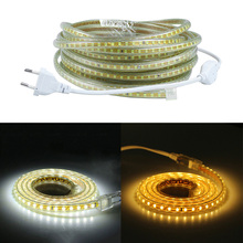 220V SMD 2835 Flexible Led Strip Light 1M/2M/3M/4M/5M/6M/7M/8M/9M/10M/15M/20M+Power Plug,120leds/m IP65 Waterproof led Ribbon