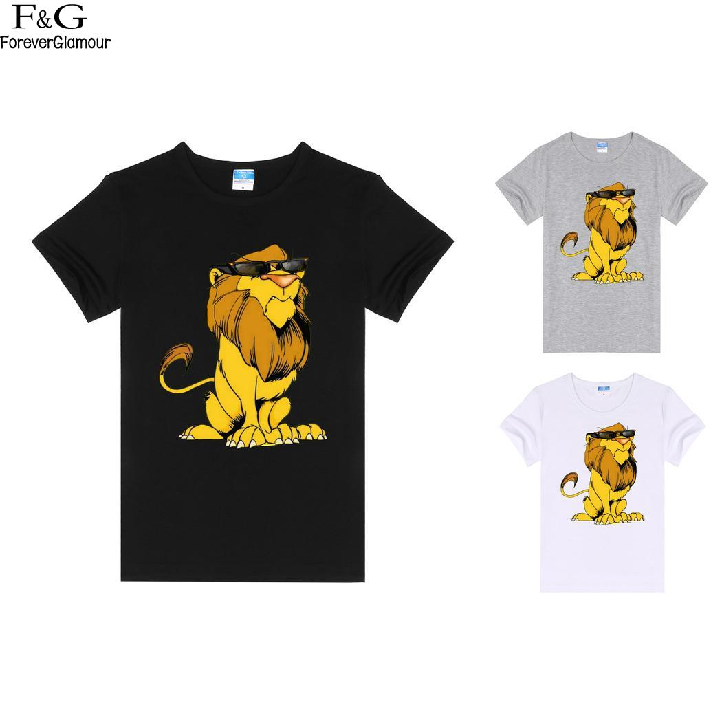 Sleeve Casual Solid O-Neck Short Women T-Shirt Cranky Lion