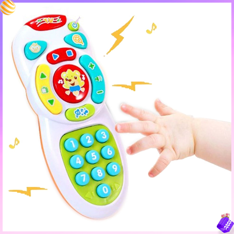 Music Mobile Phone TV Remote Control Early Educational Toys Electric Count Remote Learning Machine Baby Toys Gifts