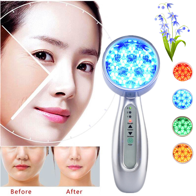 Galvaic Ion Spa Ultrasonic Face Bio Light LED Photon Skin Rejuvenation Facial Beauty Device Rechargeable Firming Beauty Machine