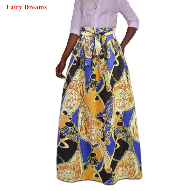 6029a17548dd0 US $19.38 49% OFF|Plus Size Africa Clothes 5XL Indonesia Ankara Indian  African Pattern Print Women Summer Autumn Skirt Fashion Bandage Long  Skirts-in ...