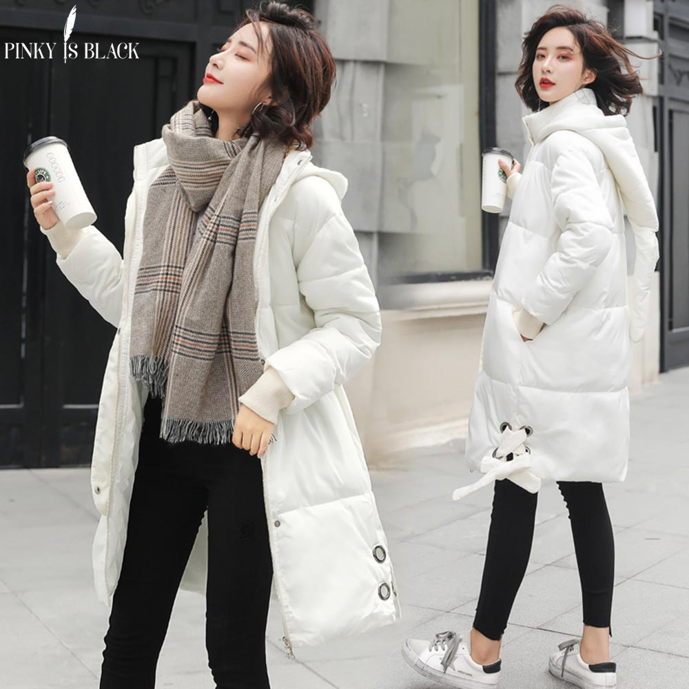 PinkyIsblack Parka Women 2018 Winter Jacket Women Coats Hooded Coats Female Long Thick Cotton Padded Lining Winter Coat Female