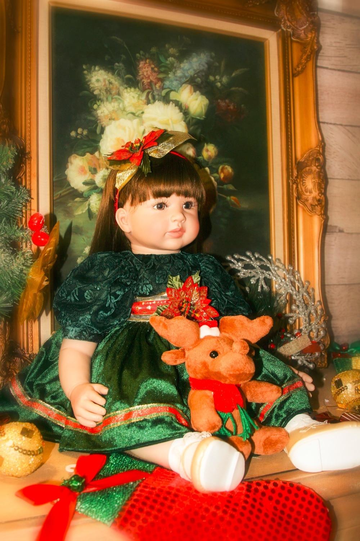 Bebes Кукла реборн 22 дюйма Новое поступление Виктории укоренившиеся коричневые волосы мальчик реалистичный ребенок ручной работы полный Сил... - 3