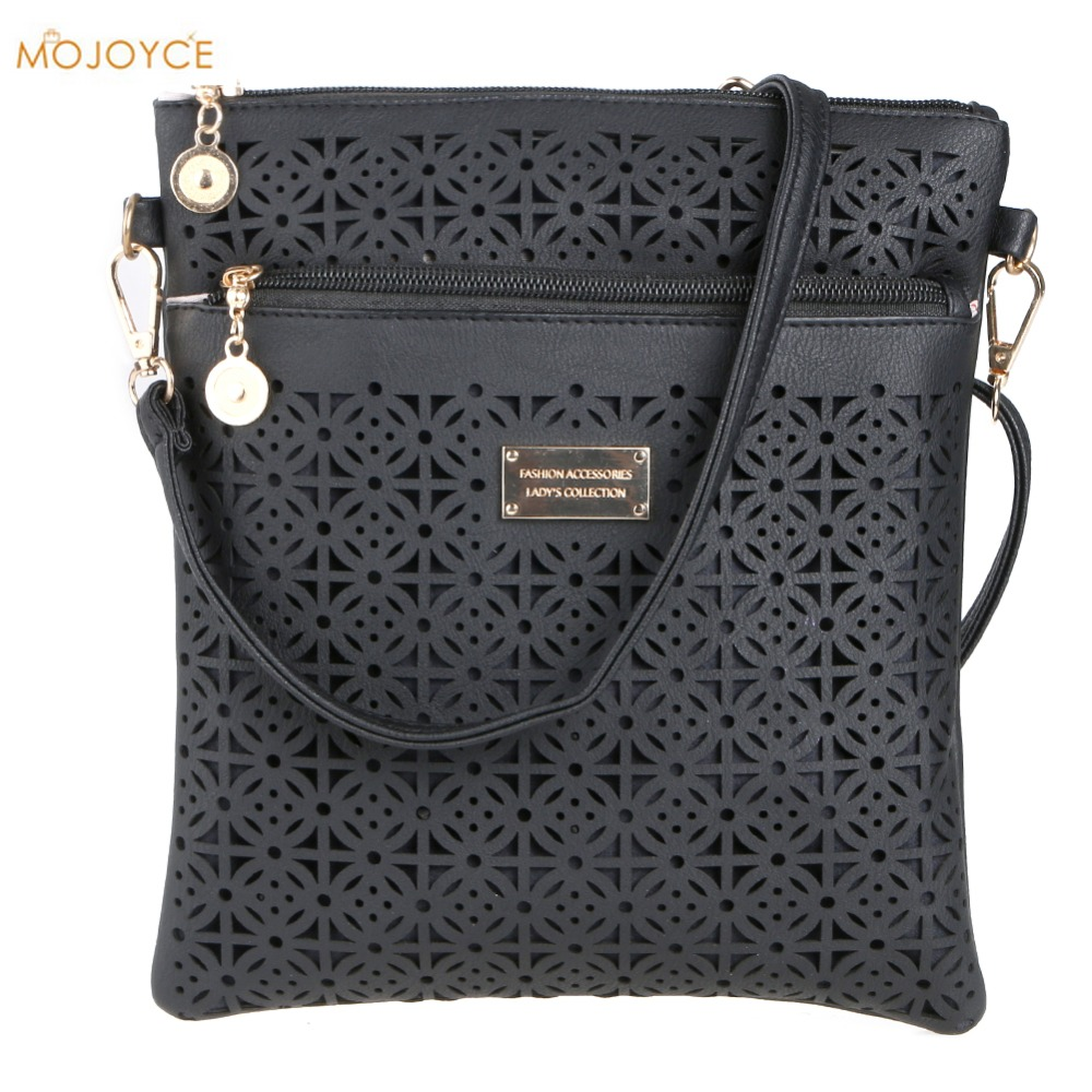 2017 Small Casual Women Messenger Bags PU Hollow Out Crossbody Bags Ladies Shoulder Purse and Handbags bolsas feminina Clutches casual small candy color handbags new brand fashion clutches ladies totes party purse women crossbody shoulder messenger bags