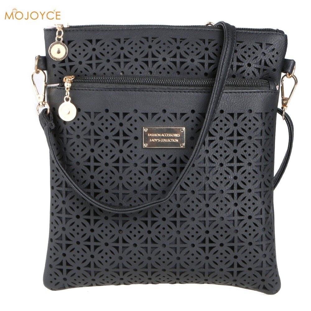 Casual Women Messenger Bags 2018 Mini PU Hollow Out Crossbody Bags Ladies Shoulder Purse and Handbags bolsas feminina Clutches