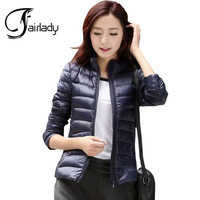 Winter Clothes New Ultra Thin White Duck Down Jacket Women Short Down Jacket Female Factory Wholesale