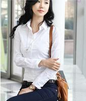 Women S Long Sleeve Office Tops Formal Work Shirts Lady S White Business Blouses Women Fashion