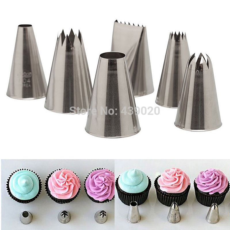 How To Use Cake Decorating Nozzles : Aliexpress.com : Buy A15 6 pcs/Lot Icing Piping Nozzle ...