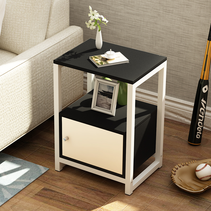 US $74.89 17% OFF|Simple modern wooden tea table side table assembly living  room sofa table bedroom bedside table corner cabinet-in Coffee Tables from  ...