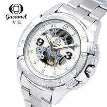 2016 Новый Gucamel Часы Парни Top Luxury Brand Горячие Дизайн Военный Спорт Механические Наручные часы Мужчины Полный Стали Смотреть