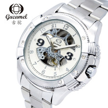 2016 New Gucamel Watches Men Top Luxury Brand Hot Design Military Sports Mechanical Wrist watches Men Full Steel Watch
