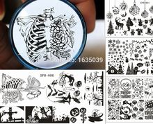 SPH Halloween Christmas Nail Stamping Plates Nail Stamp Polish Image Nail Art Image Konad Print Stamp Stamping Manicure Template konad печатная форма диск image plate m41