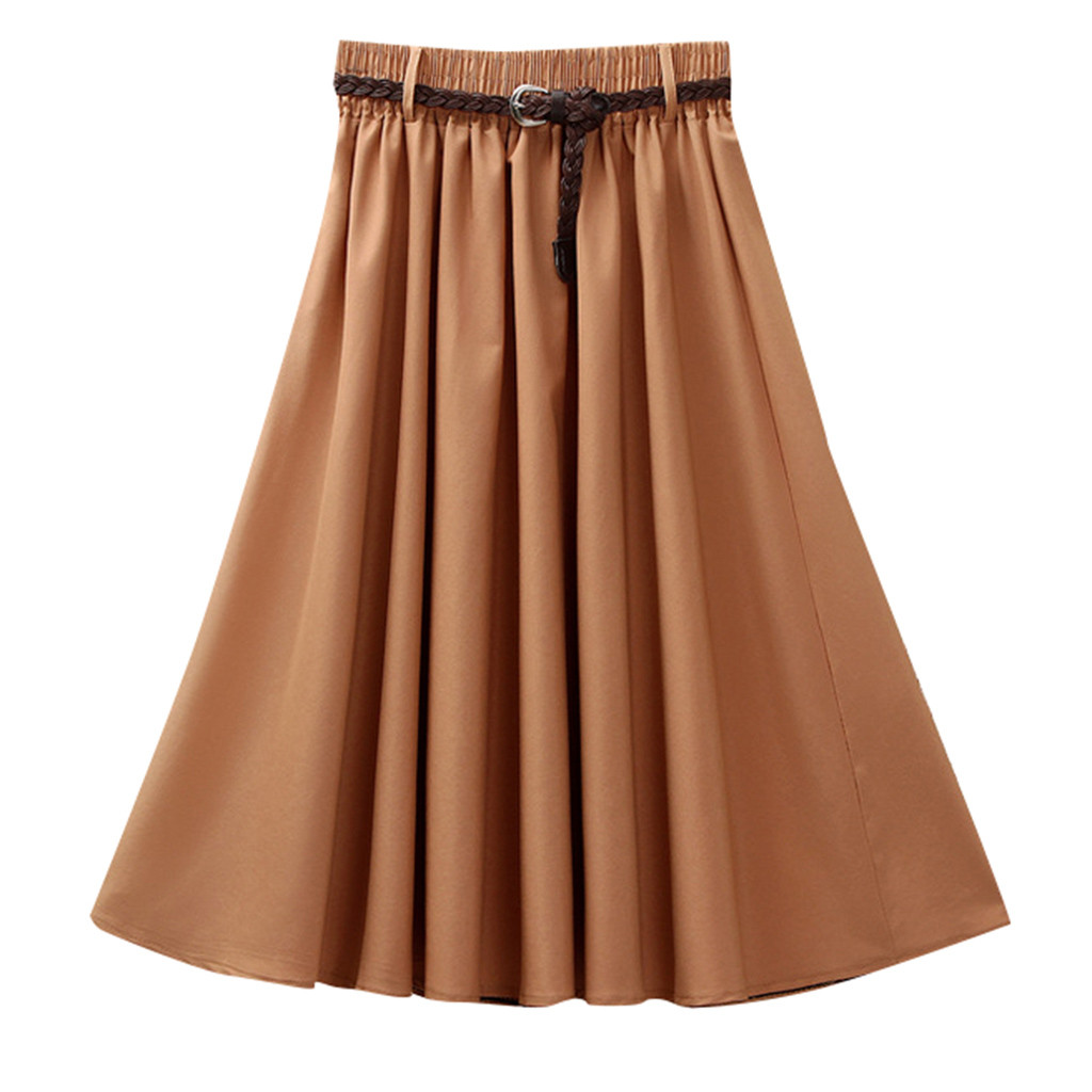 2020 MAXIORILL подол New Women's Summer Skirt Solid Color Belt Pleated Skirt Wholesale Free Shipping Made in China T3+3